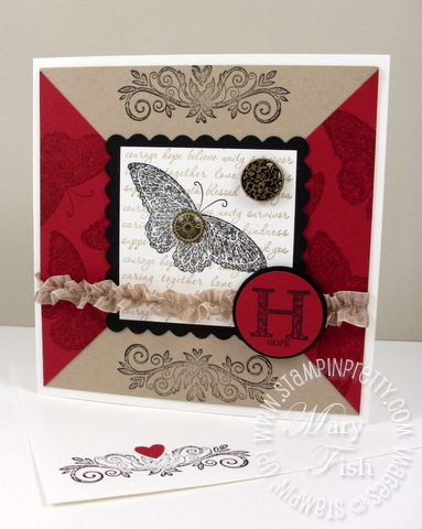 Stampin up mojo monday rubber stamp strength and hope