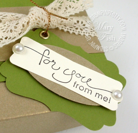 Stampin up decorative label modern punch