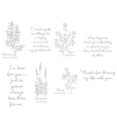 Herb expressions stampin up rubber stamps