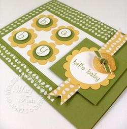 Stampin up mojo monday baby handmade card