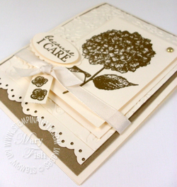 Stampin up mojo monday because i care heat emboss