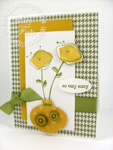 Stampin up awash with flowers