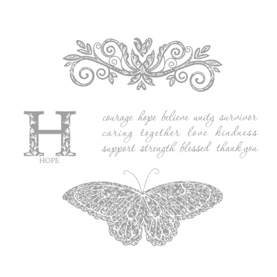 Strength & hope stampin up rubber stamp
