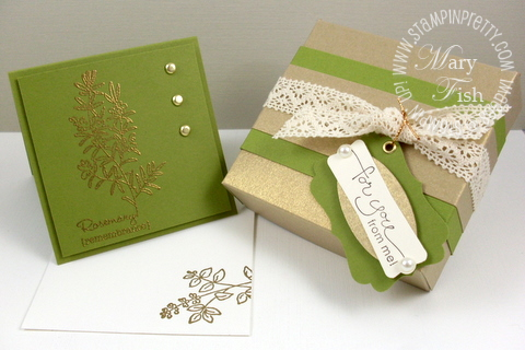 Stampin up herb expressions rubber stamp note card