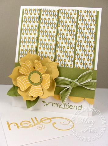 Stampin up mojo monday my friend fun flowers die