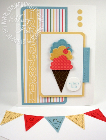 Stampin up pennant parade punch birthday card idea
