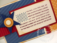 Stampin up star spangled banner rubber stamp flag