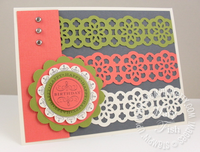 Stampin up catalog lace border punch birthday card idea