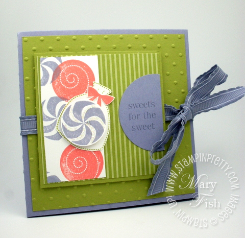 Stampin up sweets for the sweet circle punch catalog