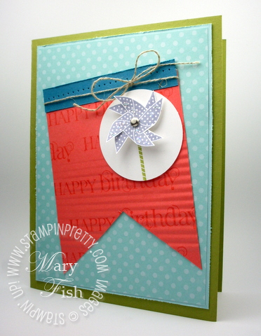 Stampin up rubber stamp pinwheel card sweets for the sweet