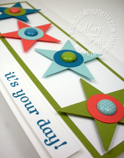 Stampin up star punch catalog birthday card idea