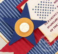 Stampin up star punch patriotic card