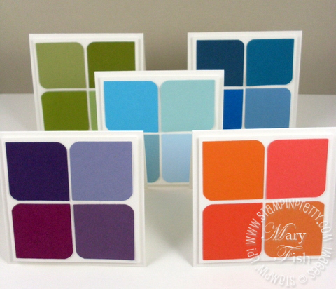 Stampin up in colors square punch