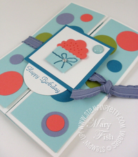 Stampin up create a cupcake rubber stamp punch gate fold tutorial