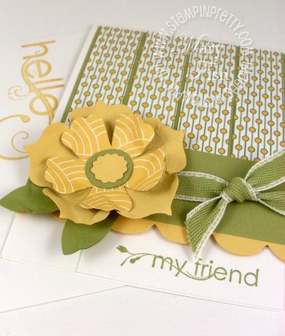 Stampin up pocketful of posies designer series paper mojo monday