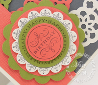 Stampin up happiest birthday wishes rubber stamp punches