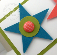 Stampin up star punch circle rubber stamp ideas