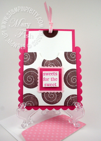 Stampin up pocket card punch postage stamp sweets for the sweet rubber stamp