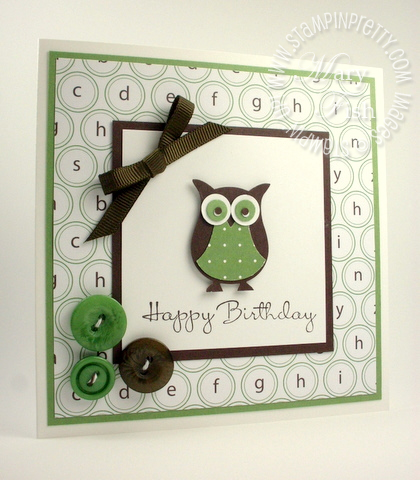 Mojo monday happiest birthday wishes card stampin pretty stampin up mojo monday birthday card owl punch ideas bookmarktalkfo Images