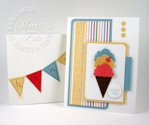 Stampin up pennant parade rubber stamping punch birthday card