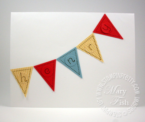 Stampin up envelope pennant builder punch