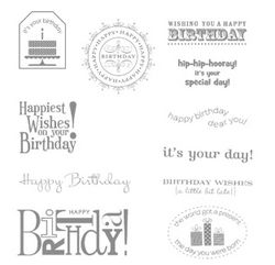 Happiest Birthday Wishes Stamp Set - by Stampin' Up!