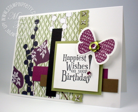 Stampin up mojo monday rubber hostess stamps birthday card