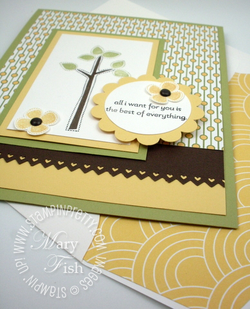 Stampin up best of everything rubber stamp scallop circle punch