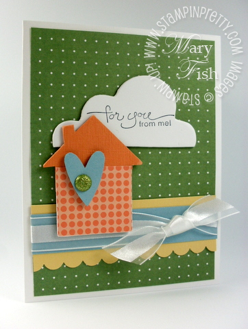 Stampin up chipboard new home card mojo monday