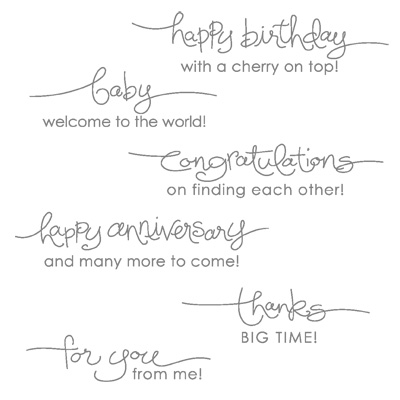 Word for you rubber stamps stampin up