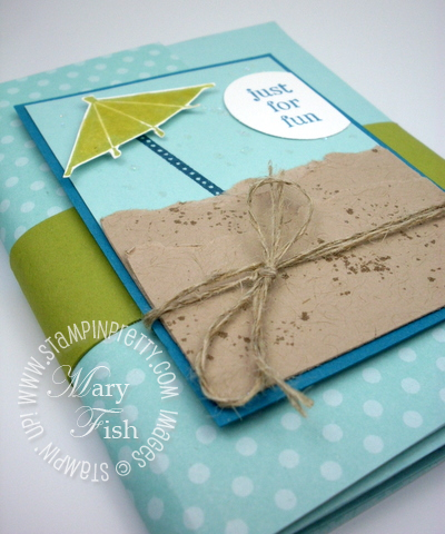Stampin up mini album sweets for the sweet rubber stamps