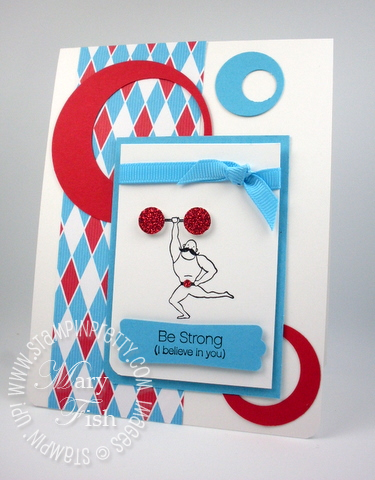 Stampin up under the big top birthday card 2