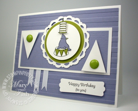 Stampin up mojo monday under the big top modern label punch