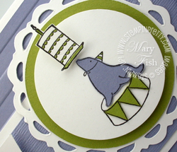 Stampin up mojo monday under the big top punch birthday card idea