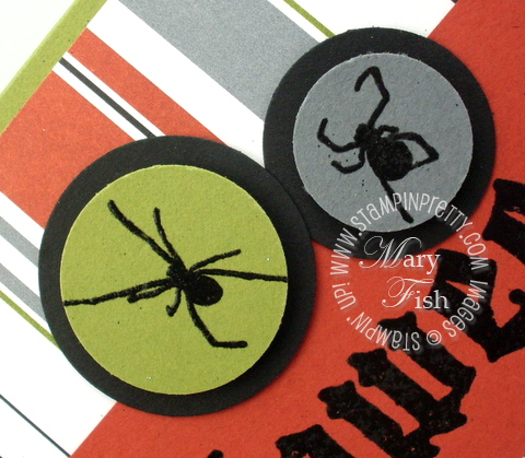 Stampin up scaredy cat rubber stamps spider circle punch
