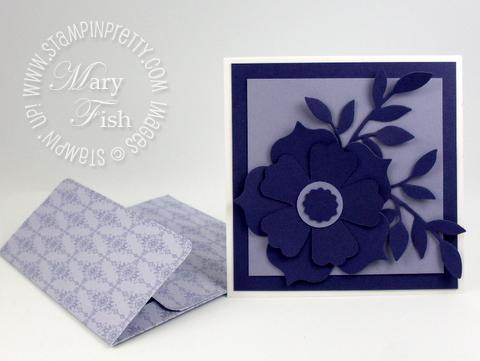 Stampin up designer series paper promotion punch 4 x 4 envelope
