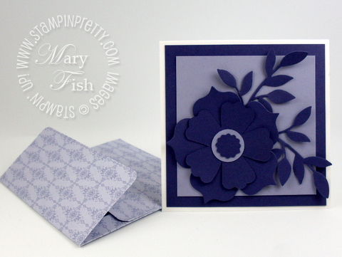 Stampin up designer series paper promotion punch 4 x 4 envelope