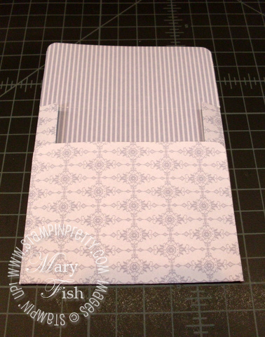 Stampin up designer series paper 4 x 4 card envelope simply scored