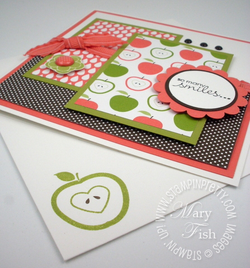 Stampin up fruit and flowers card sample blog idea