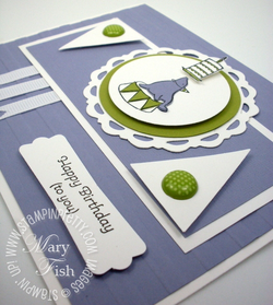 Stampin up mojo monday big shot pennant punch rubber stamps