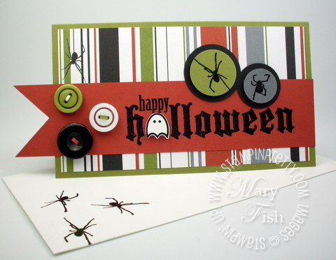 Stampin up scaredy cat rubber stamp frightful sight designer series paper promotion