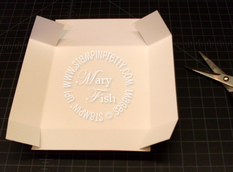 Stampin up 4 x 4 card box simply scored