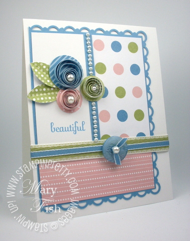 Stampin up mojo monday quilling technique punch rubber stamps video