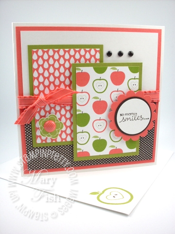 Stampin up fruit flowers card idea sample demonstrator blog