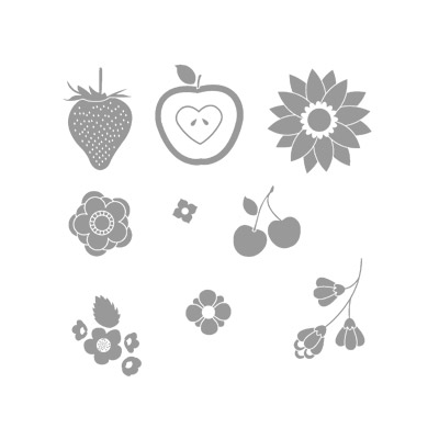 Fruit & flowers rubber stamps stampin up