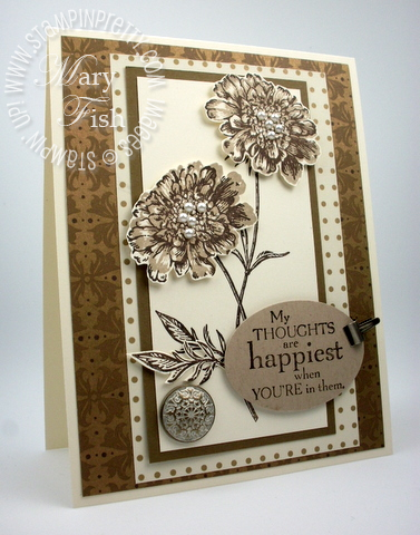 Stampin up field flowers rubber stamp blog card idea oval punch