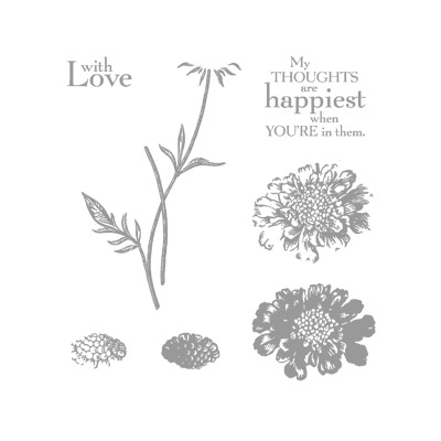 Field flowers rubber stamps stampin up