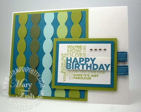 Masculine Birthday Card With Stampin Up Delightful Dozen Stampin