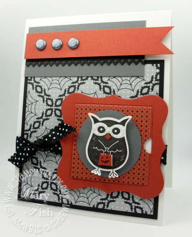 Stampin up warmest of wishes hostess stamp owl punch