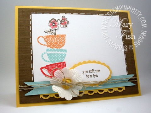 Stampin up tea shoppe rubber stamps punch occasions mini catalog